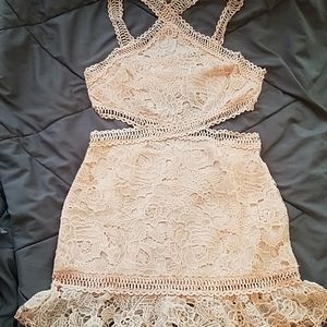 Lace cut out dress